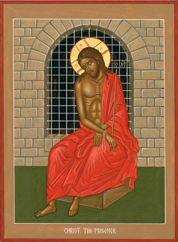 Icon of Christ the Prisoner - Nikolai Tsai